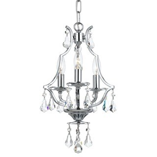Crystorama Cedar Collection 3-light Polished Chrome Mini Chandelier