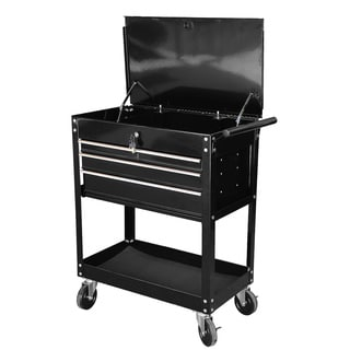 Steel Core 26-inch 4-Drawer Service Cart