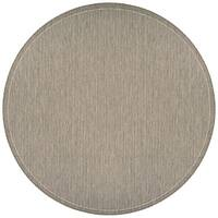 Couristan Recife Saddle Stitch Champagne-Taupe Indoor/Outdoor Round Rug - 8'6 x 8'6