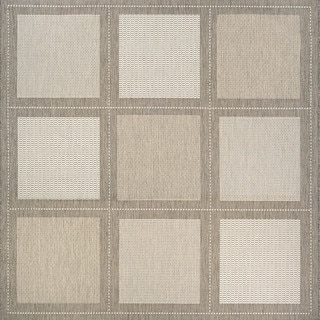 Couristan Inc Recife Summit/Champagne/Taupe Power-loomed Polypropylene Rug (7'6 Square)