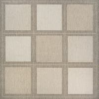 Couristan Recife Summit Champagne/Taupe Square Outdoor Area Rug - 8'6 x 8'6