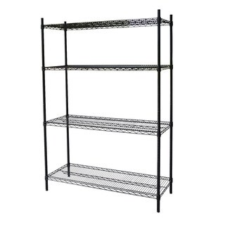 Steel Core Black Wire 54-inch 4-shelf Shelving Unit