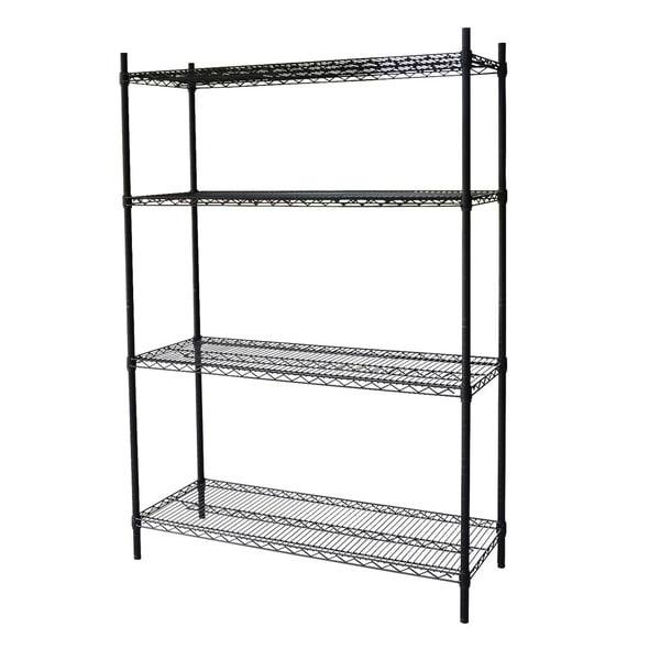 Steel Core Black Wire 54-inch 4-shelf Shelving Unit