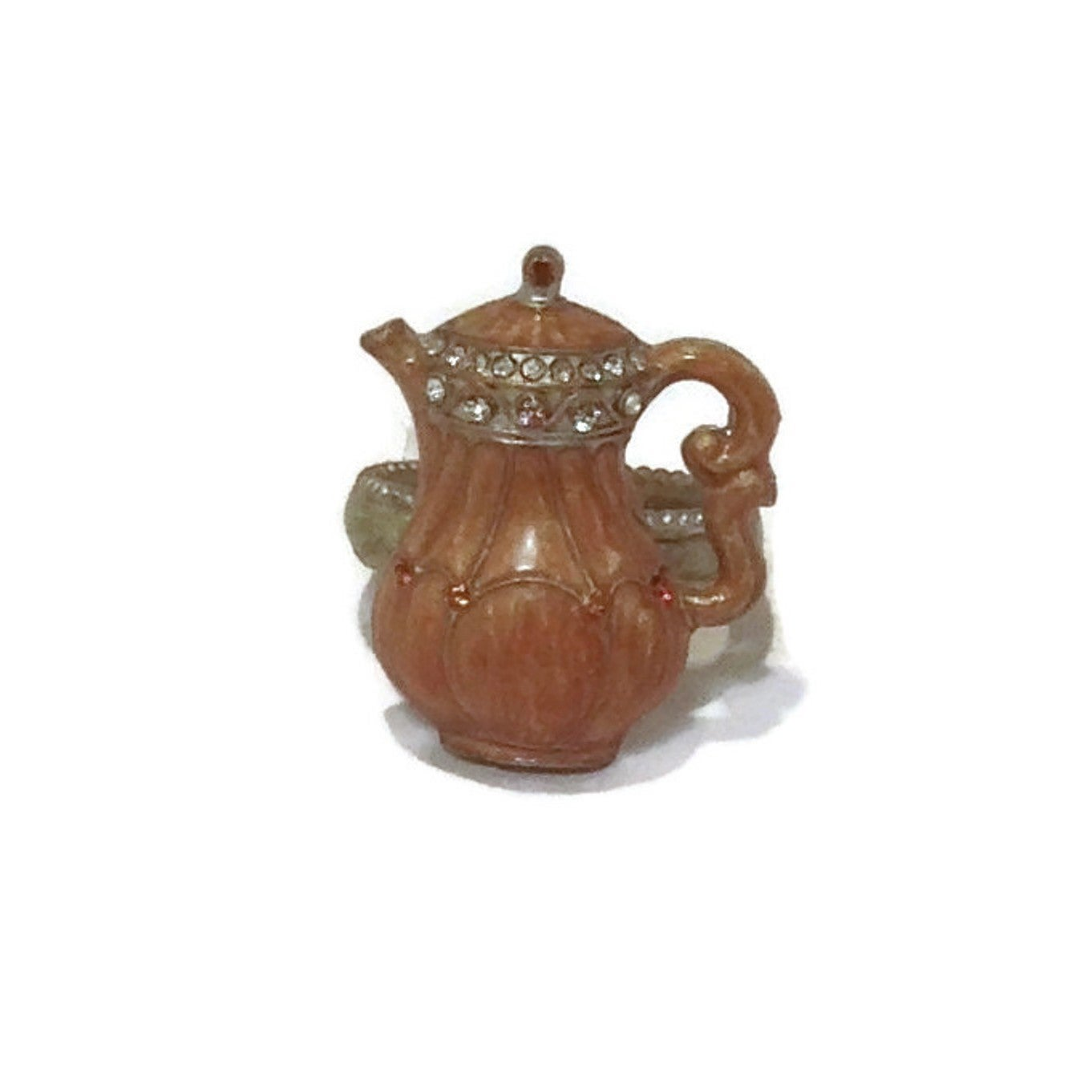 Heim Concept Tall Brown Coffee Pot Napkin Ring Overstock 13160220
