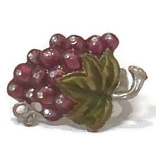 Elegance Grape Napkin Ring with Crystal