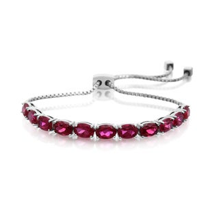 7 TGW Ruby Adjustable Slide Tennis Bracelet