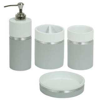 white and grey bathroom accessories. Jessica Simpson Naomi Bathroom Accessory Collection  Multiple Options Available Grey Accessories For Less Overstock com