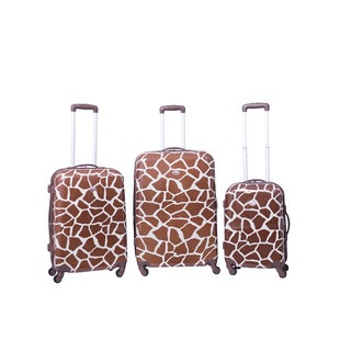 American Flyer Giraffe 3-piece Expandable Hardside Spinner Luggage Set