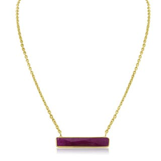 10 TGW Ruby Bar Necklace In Yellow Gold Over Brass|https://ak1.ostkcdn.com/images/products/13160286/P19885969.jpg?impolicy=medium