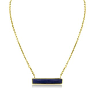 10 Carat Sapphire Bar Necklace In Yellow Gold