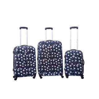 American Flyer Stars 3-piece Expandable Hardside Spinner Luggage Set