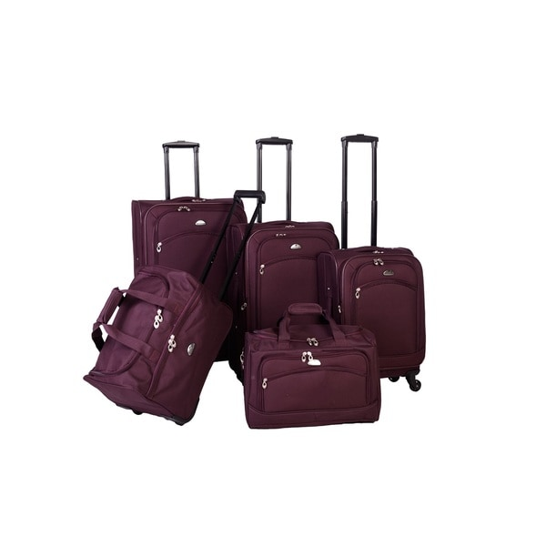 American Flyer South West 5 Piece Expandable Spinner Luggage Set
