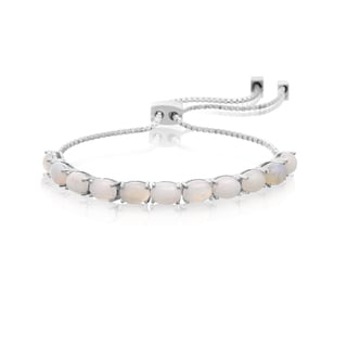 5 1/2 TGW White Topaz Adjustable Slide Tennis Bracelet