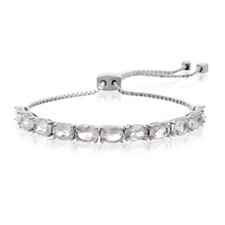 5 1/2 Carat White Topaz Adjustable Slide Tennis Bracelet
