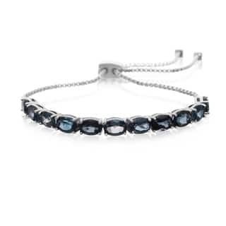 7 TGW London blue topaz Adjustable Slide Tennis Bracelet|https://ak1.ostkcdn.com/images/products/13160297/P19885977.jpg?impolicy=medium