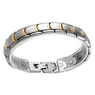 Two-tone Stainless-steel Magnetic Fashion Bracelet