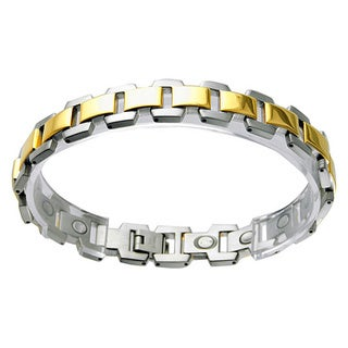 Two-tone Silver and Gold Stainless Steel Bracelect