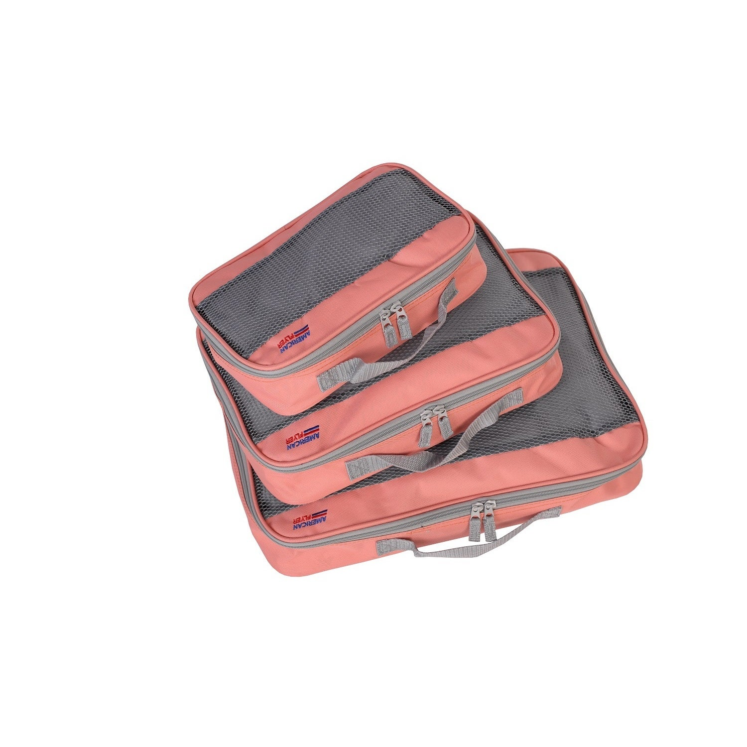 American Flyer 3-piece Perfect Packing Cube Set (Orange)