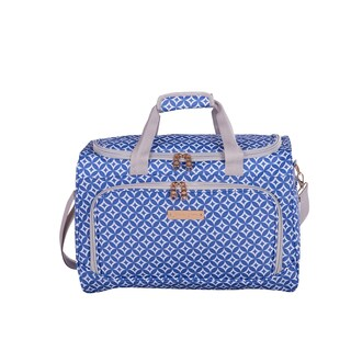 Jenni Chan Aria Stars Polyester 17-inch Carry-on Duffel Bag (Option: Blue)