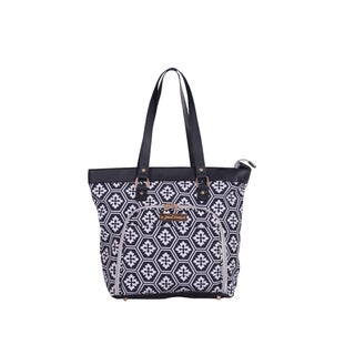 Jenni Chan Aria Polyester 18-inch Snowflake Laptop and Tablet Tote Bag