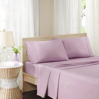Madison Park Pure Soft Wash Cotton Percale Sheet Set 4-Color Option