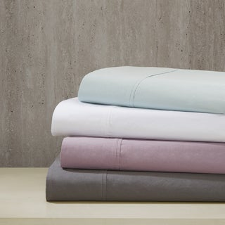 Madison Park Pure Soft Wash Cotton Percale Sheet Set 4-Color Option