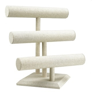 3-tier Linen Bracelet Bar Jewelry Stand by Hives & Honey