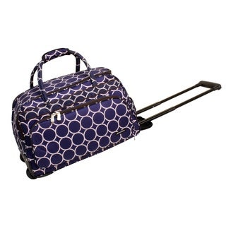 Jenni Chan Park Ave. 20-inch Fashion Carry-on Rolling Duffel Bag