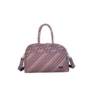 Jenni Chan Tiles Polyester 20-inch Carry-on Fashion Duffel Bag