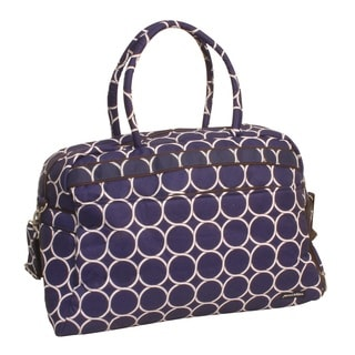 Jenni Chan Park Ave. Blue Polyester 20-inch Fashion Carry On Duffel Bag
