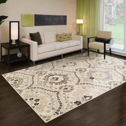 Superior Augusta Floral Damask Modern Indoor Area Rug Collection