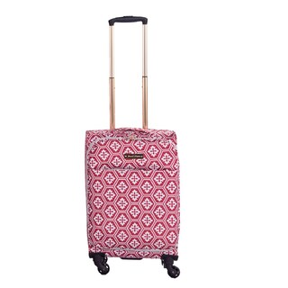Jenni Chan Arias Fabric 20-inch Snowflake Carry-on Upright Spinner Suitcase (3 options available)