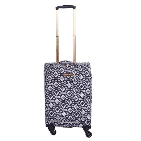 Jenni Chan Arias Fabric 20-inch Snowflake Carry-on Upright Spinner Suitcase