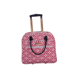 Jenni Chan Aria Snow Flake Fabric 18-inch Carry On Rolling Tote (3 options available)