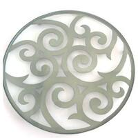Swirl Grey Metal Candlescape Holder