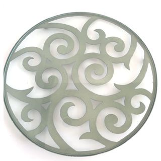 Swirl Grey Metal Candlescape Holder