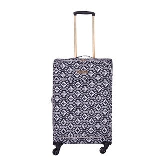 Jenni Chan Aria Snow Flake 24-inch Upright Spinner Suitcase