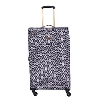 Overstock.com deals on Jenni Chan Aria Snow Flake 28-inch Upright Spinner Suitcase
