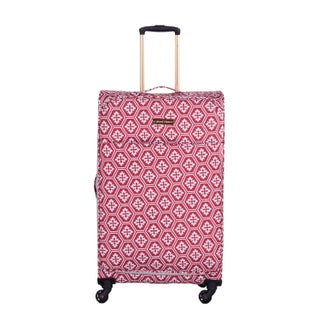 Jenni Chan Aria Snow Flake 28-inch Upright Spinner Suitcase (3 options available)