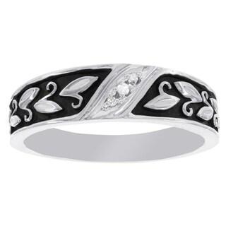 H Star Platina 4 Diamond 1/7ct Men's and Women's Engagement Trio Bridal Set (I-J, I2-I3)