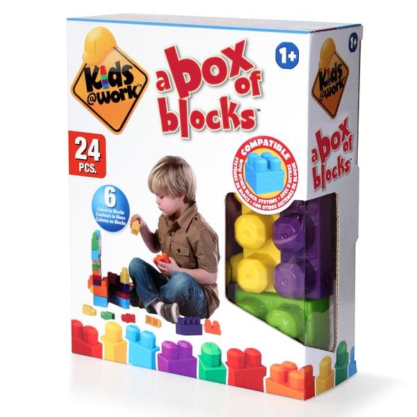 Amloid Kids at Work 24 Piece Block Set
