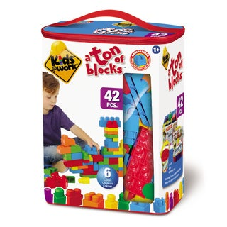 Amloid Kids at Work 42 Piece Tote of Blocks