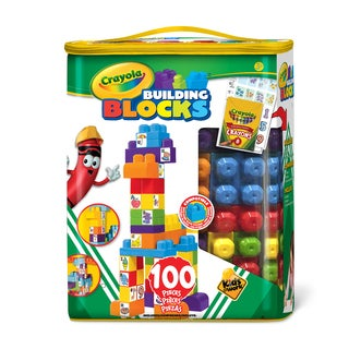 Crayola Kids at Work 100 Piece Tote of Blocks