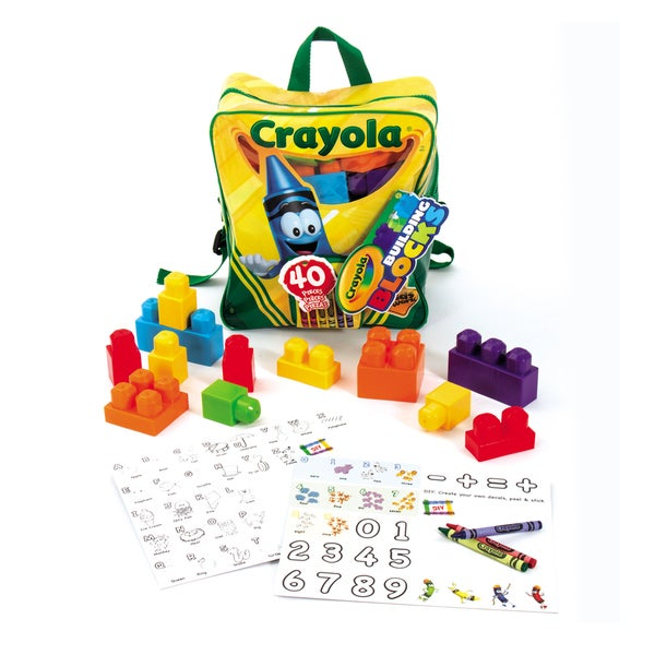 Crayola Kids at Work 40 Piece Learn n Play Backpack