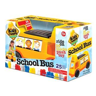 Kids at Work 25 Piece Ride on School Bus