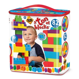 Amloid Kids at Work 82 Piece Tote of Blocks