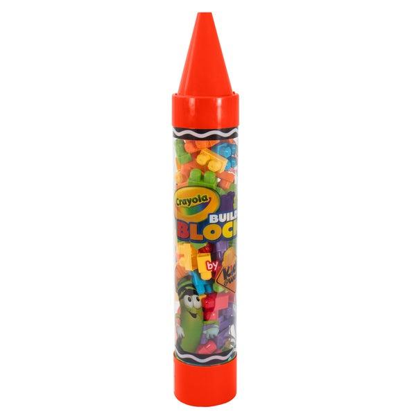 Crayola Kids at Work 80 Piece Block Set in Crayon Tube