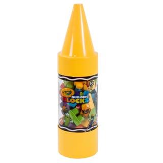 Crayola Kids at Work 40 Piece Block Set in Crayon Tube