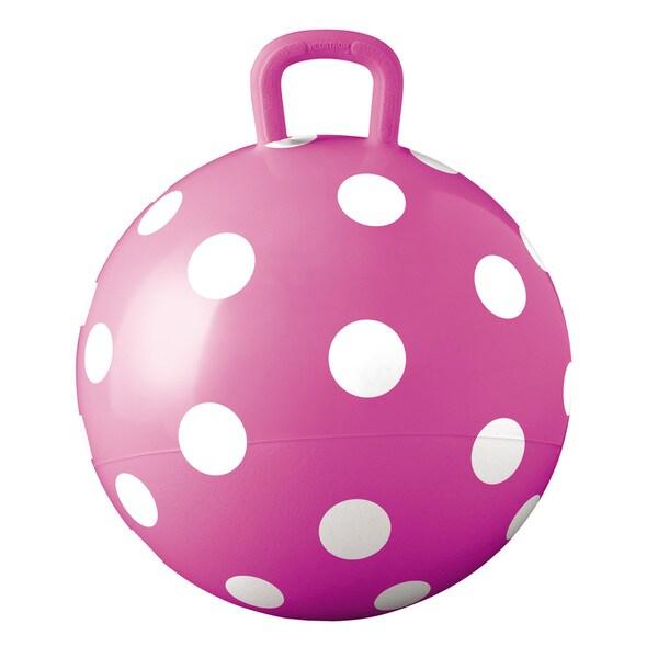 Hedstrom 15 Inch Pink Polka Dots Fun Hopper