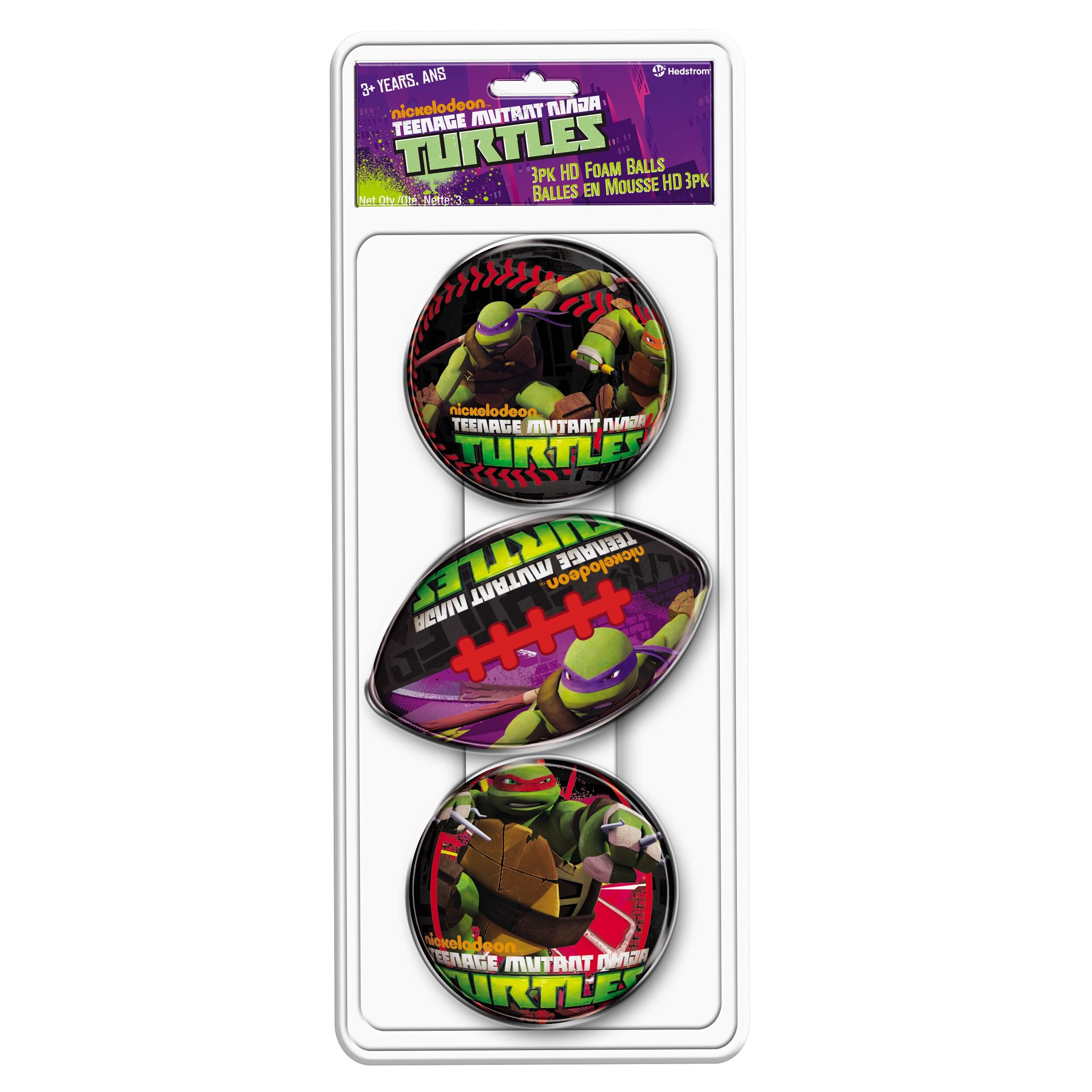 Hedstrom 3 Pack Teenage Mutant Ninja Turtles Foam Ball Se...